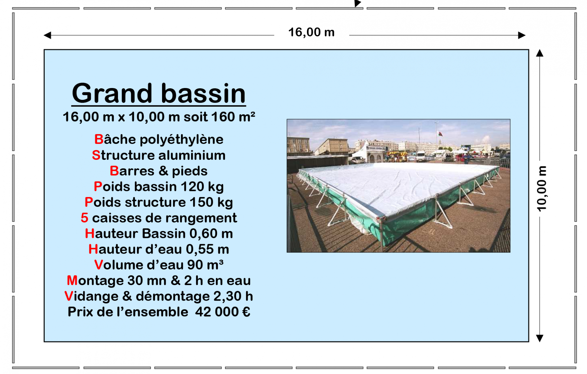 Grand bassin taille